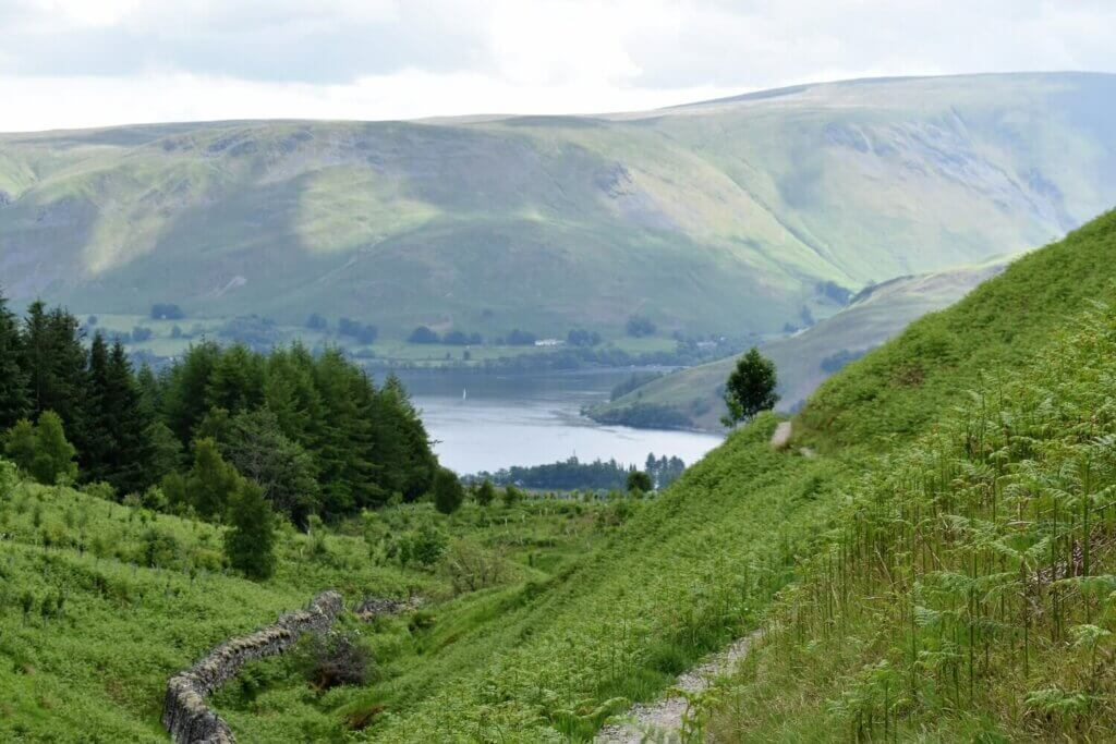 view of ullswater from gowbarrow fell walk