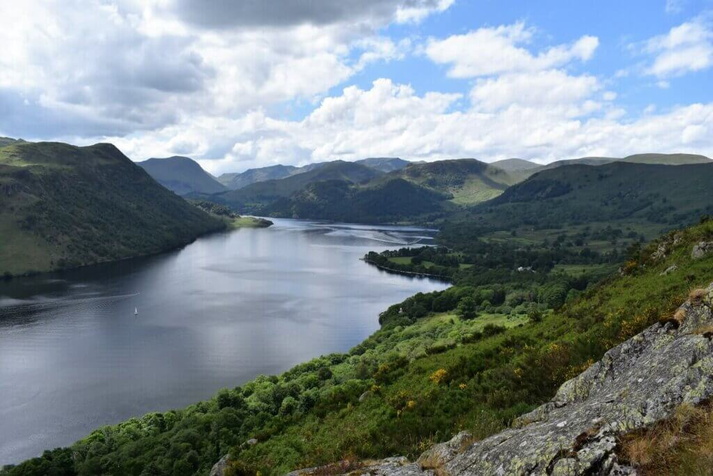 southerly view along ullswater from memorial seat