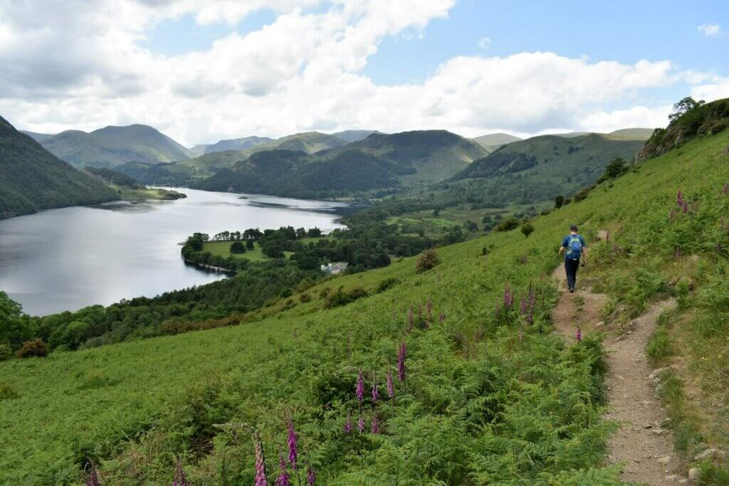 gowbarrow fell trail back to aira force