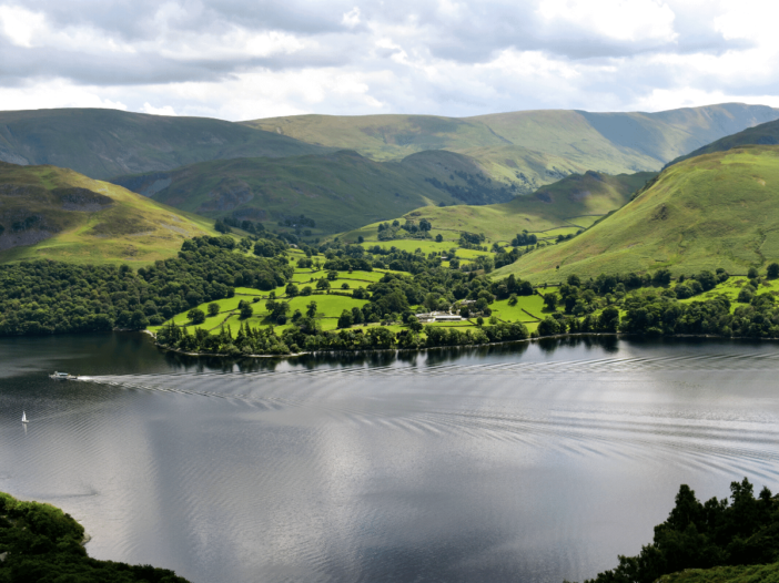 view of ullswater during the gowbarrow fell walk