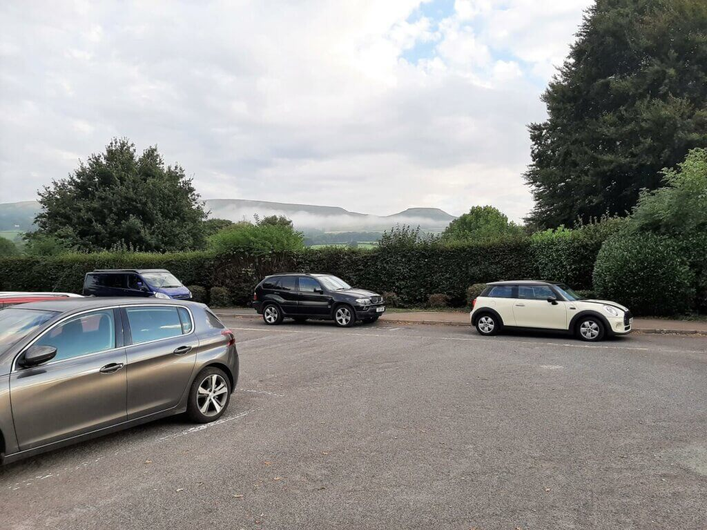 view of table mountain from crickhowell high school car park
