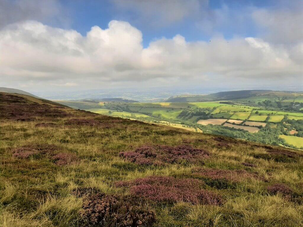 northerly views towards the wye valley