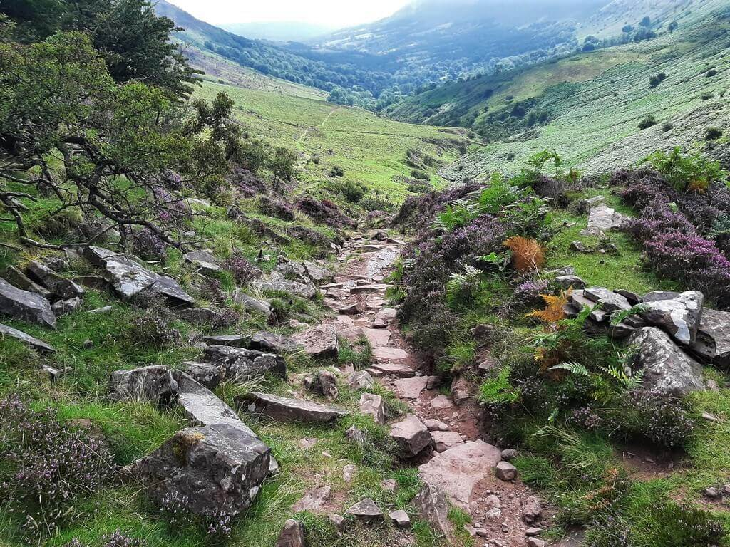 rocky path into olchon valley