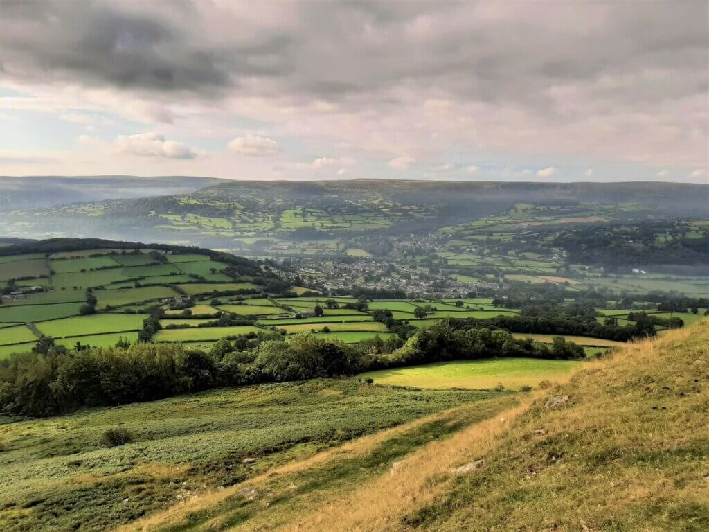 view of crickhowell from table mountain