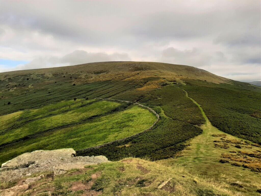 northerly view towards pen cerrig calch