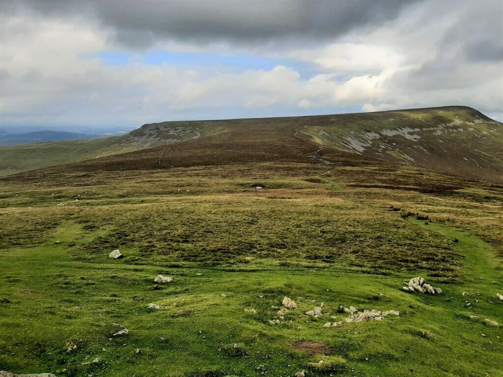 north westerly view towards pen allt mawr