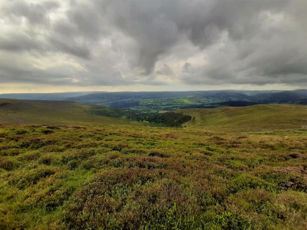 southerly view towards the usk valley
