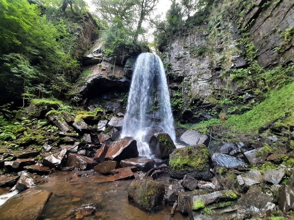 melincourt waterfall pictured from melincourt brook